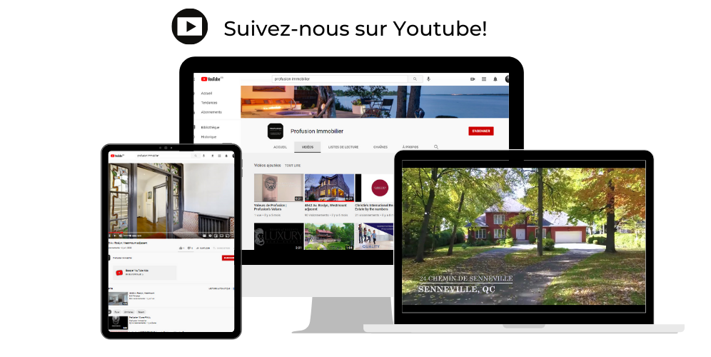Trouver Profusion Immobilier sur Youtube!